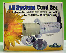 Hydrofarm All System Cord Set with 15' ft Cord Socket Grow Light Wing Reflector