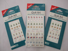 3 Cards Of Nail Art Decals Holiday Trimmings Mix New