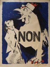 Bernard LORJOU (1908-1986) Lithographie 1958 Jeune Peinture Nle Ecole de Paris