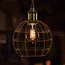 BRONZE SPHERICAL CAGE SHADE LIGHT FITTING FOR VINTAGE EDISON FILAMENT BULB *NEW*