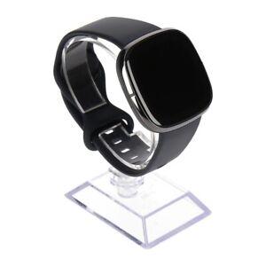 Fitbit Sense Smartwatch Carbon/Graphit Silikonarmband in Größe S, L,