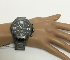 NEW FOSSIL GUNMETAL TONE,STAINLESS STEEL,CHRONOGRAPH,BRACELET  WATCH-BQ2183