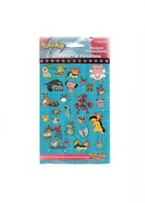Vintage 1998 Pokemon Stickers DesignWare Six Pack 12 Sheets New Factory Sealed