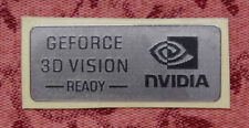 Nvidia GeForce 3D Vision Ready Silver Chrome Sticker 14.5 x 34mm