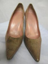 Gucci Italy python snake reptile stiletto pumps heels shoes #158211   Size 8.5B