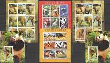 D1371 IMPERF,PERF 2003 CONGO ANIMALS PANDAS ELEPHANTS DOGS GIRAFFES 4KB+2BL MNH