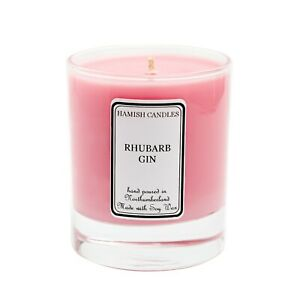 Rhubarb Gin - Personalised Soy Wax Candle - 20cl