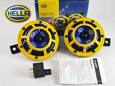 Pair Hella Sharptone Horn Kit 12V 415/350Hz Kit (Yellow Grille) P/N H31000001