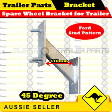Spare Wheel Bracket 45 degree for Trailer (Ford Stud Pattern)