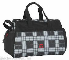 Take it Easy Sporttasche Wien Plaid schwarz-grau passt zu Schul-Rucksack London