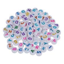 200 Lettre Perles Rondes Perles En Plastique Pour Bracelet Q2E1