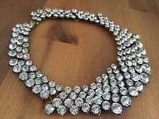Absolutely Stunning All Crystals Zara Statement Bib/Choker/Necklace