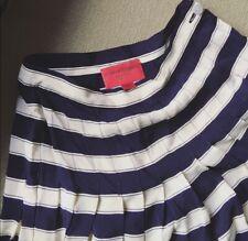 Vintage Ungaro Stripe High Waist Mini Silk Skirt 10