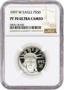 1997 W $50 Proof 1/2 oz .9995 Fine Platinum American Eagle NGC PF70 Ultra Cameo