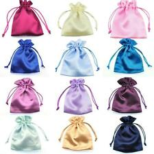 Silky Satin Wedding Favour Gift Bags Drawstring Jewellery Pouches Wholesale UK