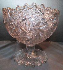 Vintage Whirling Star Tinted Pedestal Bowl Gorgeous Design Vintage