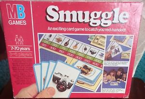 MB GAMES SMUGGLE CARD BOARD GAME 1981 RARE COMPLETE VINTAGE FAMILY FUN