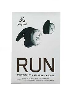Authentic Jaybird Run In Ear Wireless Headphones Waterproof Secure Fit White