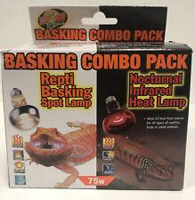 New listing Zoo Med's Basking Combo Pack day / night 75 watt
