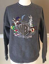 Warner Bros. Studios Bugs Bunny Road Runner Taz Gray Crewneck Sweatshirt Medium