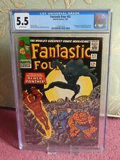 FANTASTIC FOUR #52 (July 1966) CGC 5.5 Marvel comic 1st Black Panther Cents copy