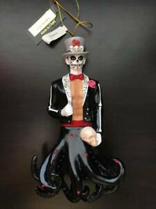 December Diamonds CALAVERA Day of the Dead Merman Ornament 2018, Sugar Skull