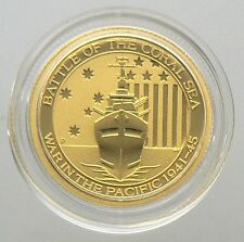 NEW 2014 1/10 OZ AUSTRALIA Battle of Coral Sea GOLD COIN UNC in CAPSULE