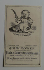1879 John Bower Confectionery Advertising card
