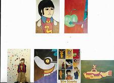 More details for set of 10 rare vintage kodak  beatles yellow submarine stickers vgc free uk p&p