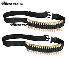 2X Tactical 25 rounds Rifle Cartridge Belt Elastic Loops for .308, 22-250 .375