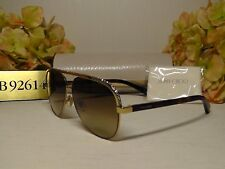 502919a1f06 JIMMY CHOO Lina s Aviator Gold Havana W  Crystals Frame Brown Lens  Sunglasses