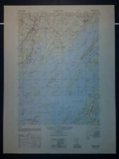 1940's Army topographic map (like USGS) Freeport Maine -Sheet 6971 I SE