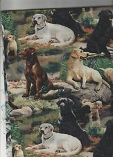 1 Set Labrador Placemats set 4 w center round handmade Maine dog,dogs labs
