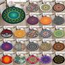 Mandala Lilies Lotus Round Soft Yoga Mat Rugs Floor Bathmat Rug Non-slip Carpet