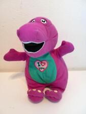 Vintage Barney The Purple Dinosaur I love You Singing Plush Soft Toy Doll 1990s
