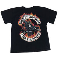 Sons Of Anarchy SOA  Fear The Reaper T Shirt Men's Size Large Black Skeleton Tee