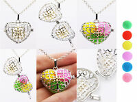 Harmony Ball Pendant Lockets Essential Oil Perfume Diffuser Necklace Heart Totem