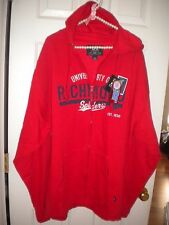 J America red hooded zip-front sweat jacket University of Richmond NWT XXL