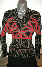 VERY RARE NEW VIVIENNE WESTWOOD & WOLFORD UNION JACK V NECK SWEATER TOP