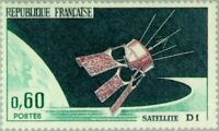 EBS France 1966 Launch of Satellite D1 MNH** YT1476