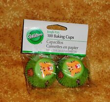 Jungle,Safari Mini Cupcake Papers,Wilton,Multi-Color,100 ct. 415-1013,Green