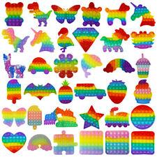 Push It Pop Fidget Toy Blase Pastell Einhorn Dino bis 20 cm Regenbogen TikTok