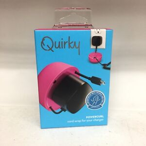 Quirky Powercurl Cable Organizer Pink, For iPhone, Android Charger - New