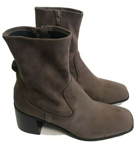 Jeffrey Campbell Jerem Bootie Taupe Suede Size 9 NEW Without Box Chunky Heel
