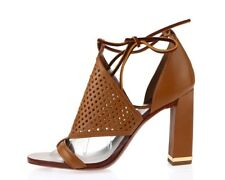 Womens TORY BURCH brown leather ankle strap sandals sz. 10 M NEW!