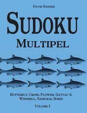Sudoku Multipel: Butterfly, Cross, Flower, Gattai-3, Windmill, Samurai, Sohei -