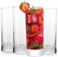 Highball Cocktails Glass Tall Bar Ware with and Lead Free Crystal for 11oz set 4