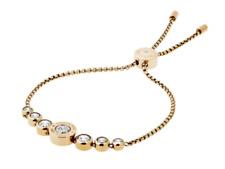 MICHAEL KORS Women's Brilliance Yellow Gold Bracelet Slider Crystals MKJ5334710