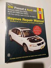 VW Passat 1998 thru 2005 + Audi A4 1996 thru 2001 Repair Manual Haynes 96023  G3