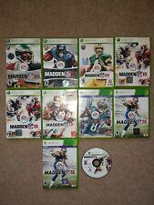Lot of 10 Xbox 360 Madden Nfl Football Video Games - Read Desc.